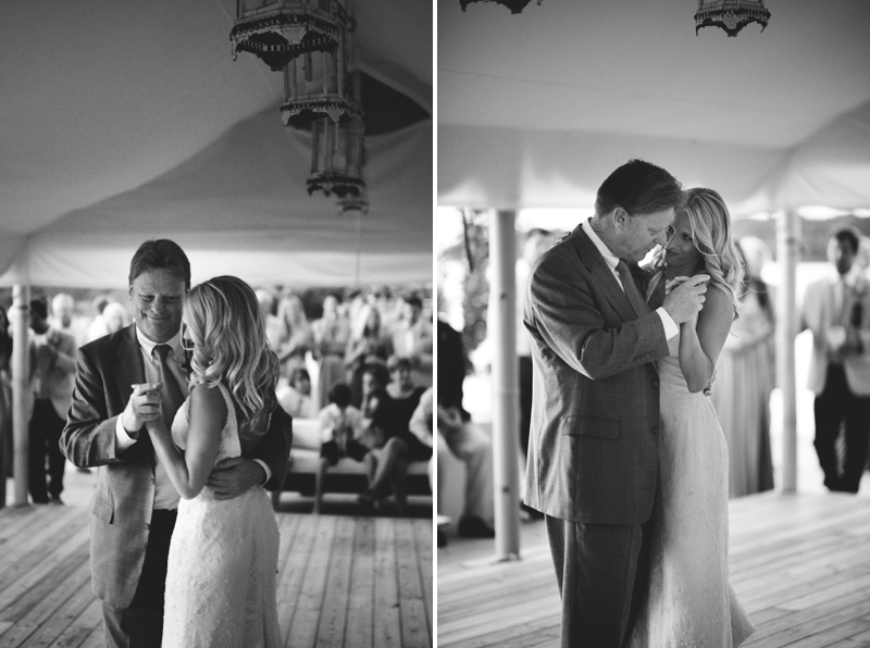 Harbour Island Wedding: father daughter dancing