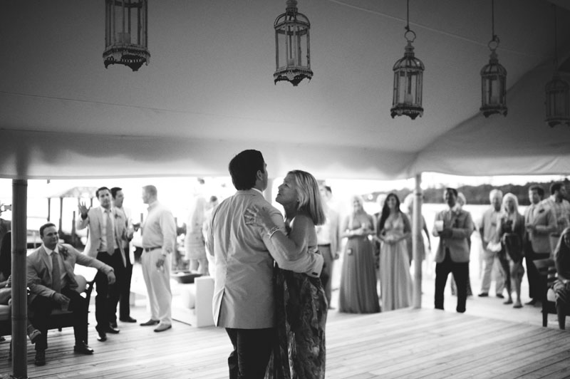 Harbour Island Wedding: mother son dancing