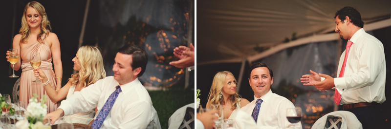 Harbour Island Wedding: maid of honor and best man toast