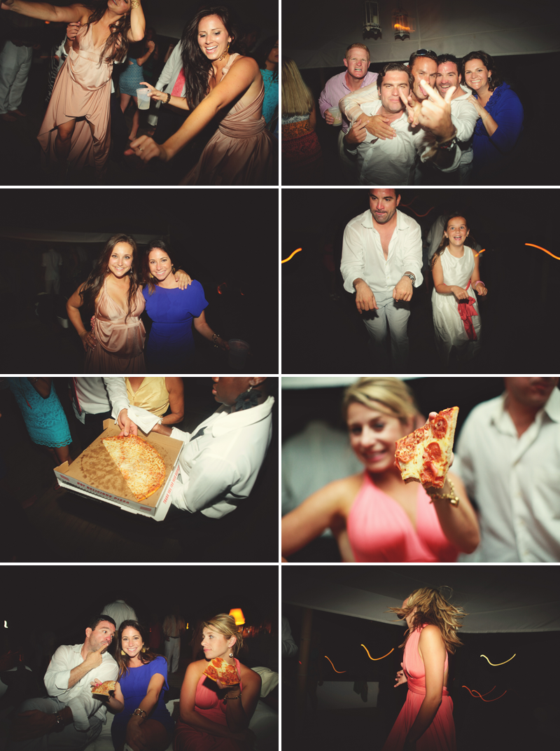 Harbour Island Wedding: dancing and pizza