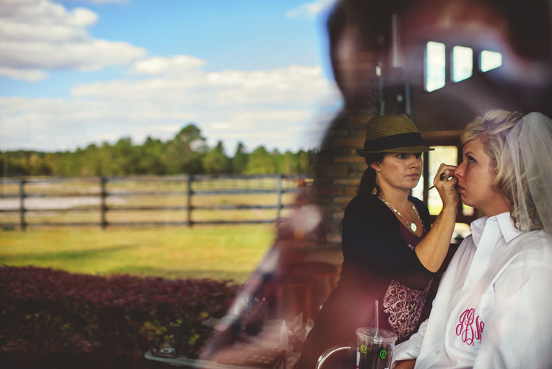plant city farm wedding: make-up