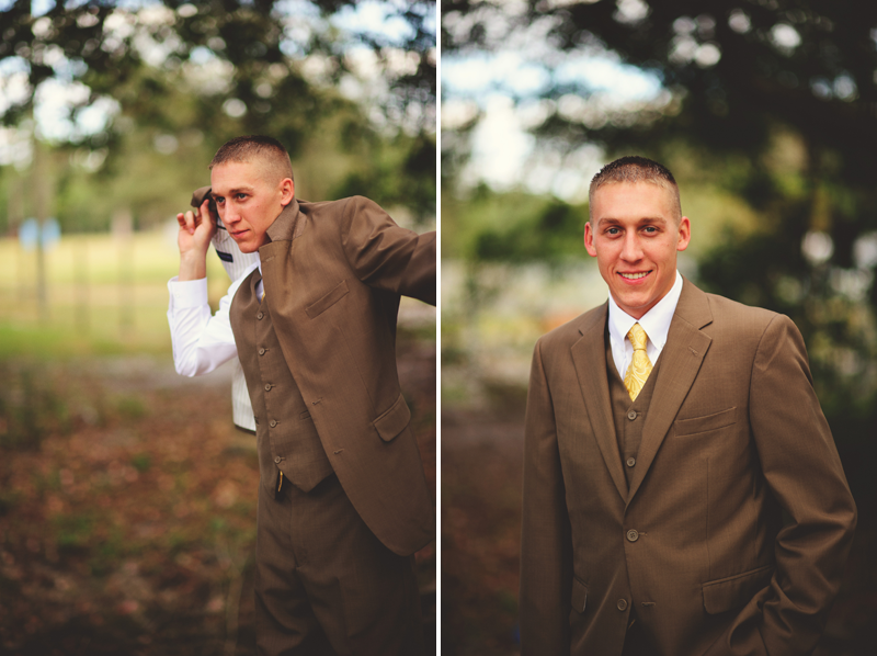 plant city farm wedding: groom getting ready