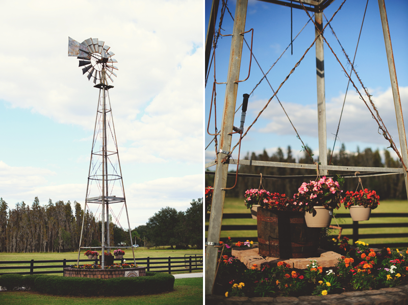 plant city farm wedding: wind mill
