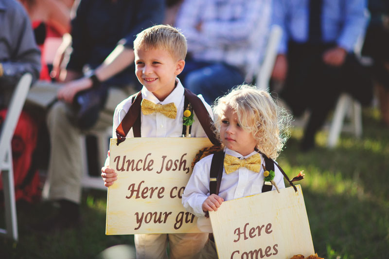 plant city farm wedding: ring bearers