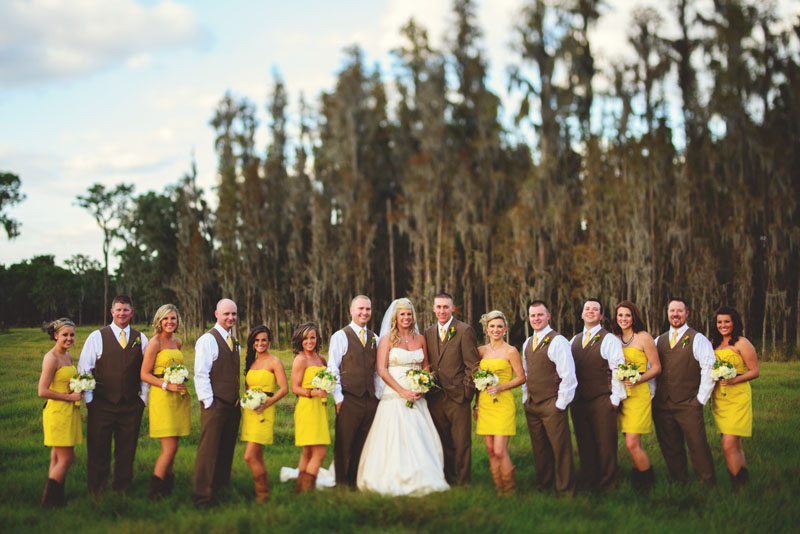 plant city farm wedding: bridal party