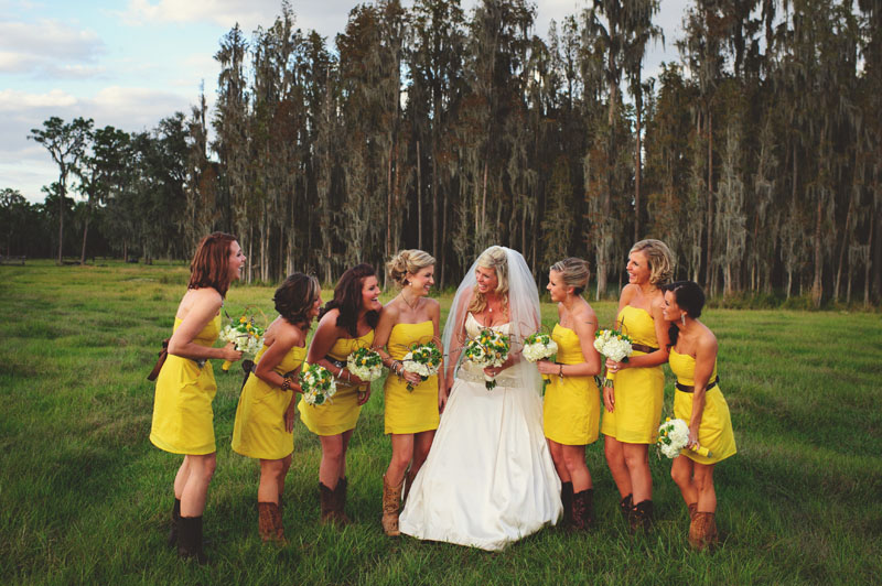 plant city farm wedding: bridesmaids