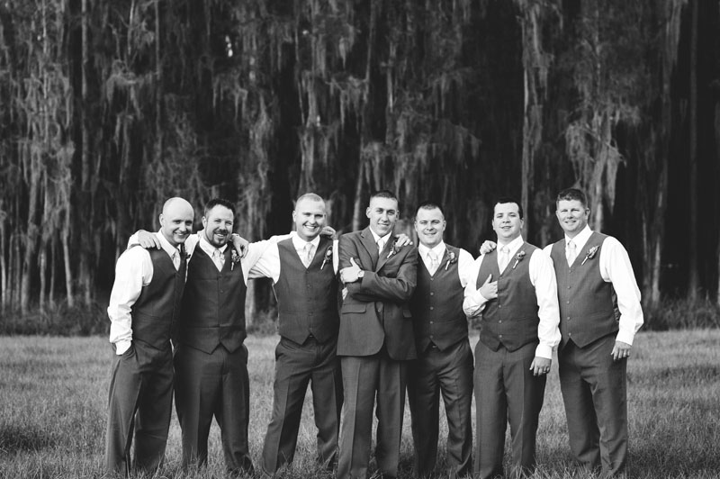 plant city farm wedding: groomsmen