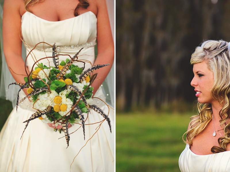 plant city farm wedding: brides bouquet  - events in bloom