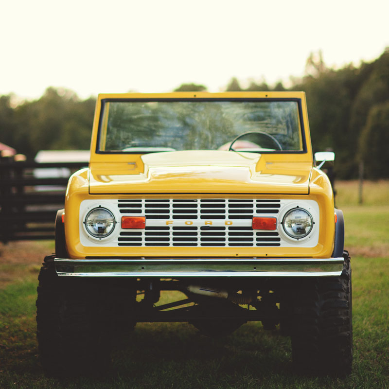 plant city farm wedding: old bronco