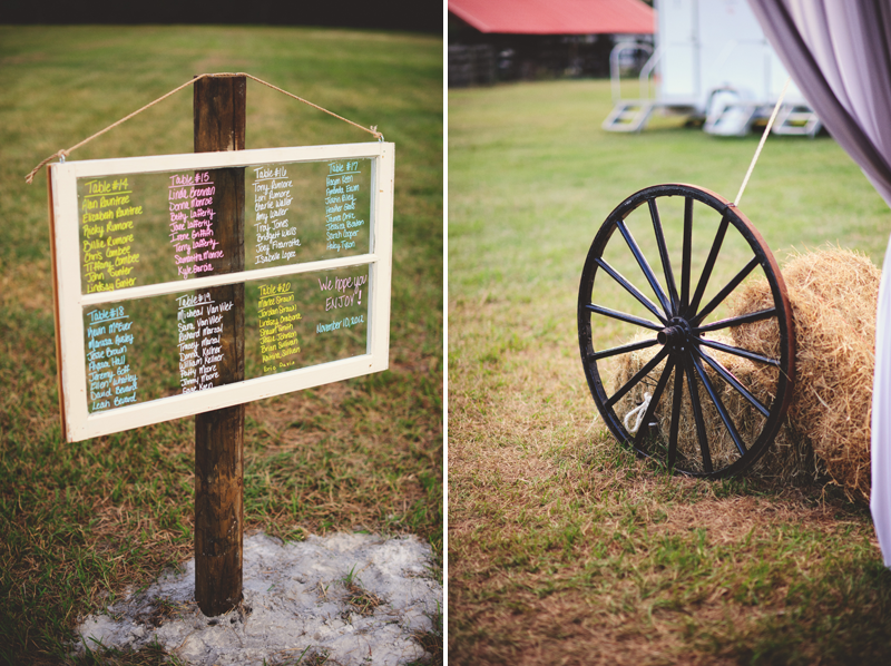 plant city farm wedding: DIY old window table numbers