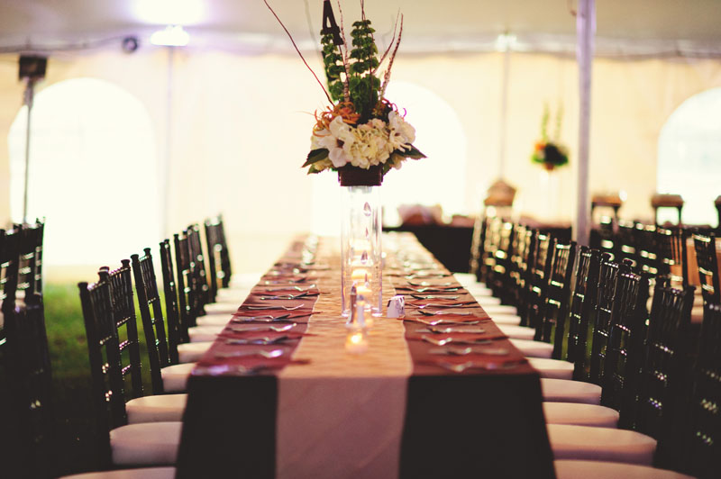 plant city farm wedding: table setting
