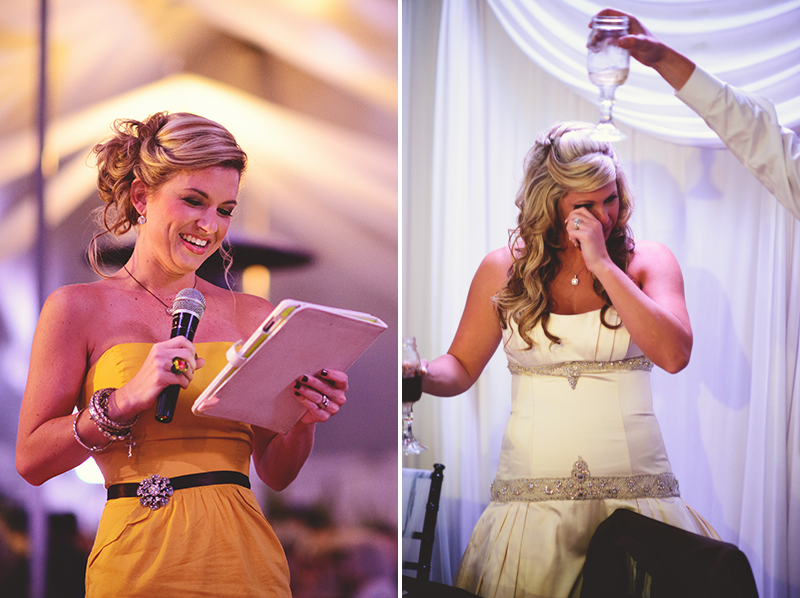 plant city farm wedding: bridesmaid toast