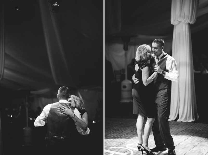 plant city farm wedding: mother son dance