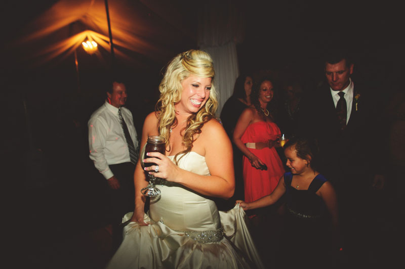 plant city farm wedding: bride dancing