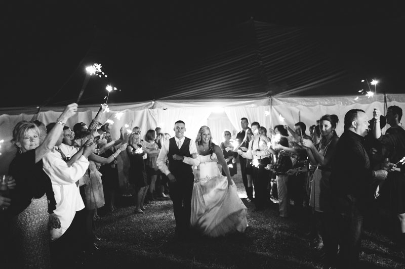 plant city farm wedding: sparkler send off