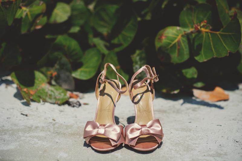 siesta key backyard wedding: shoes