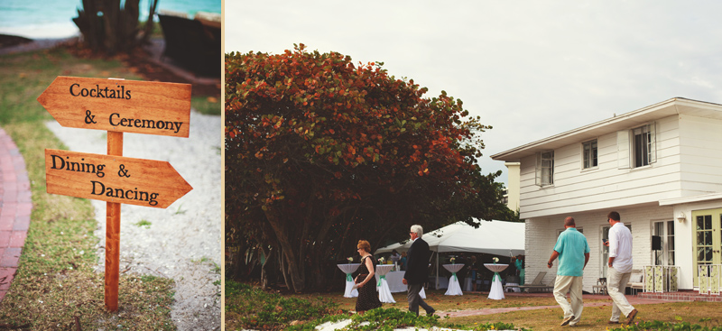 siesta key backyard wedding: cocktail hour