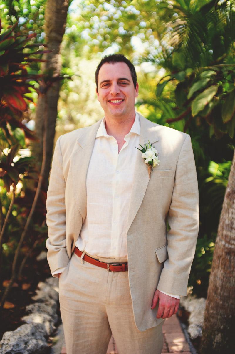 anna maria island wedding: groom
