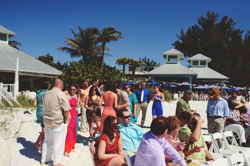 anna maria island wedding: guests