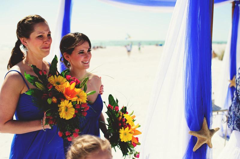 anna maria island wedding: emotional bridesmaids