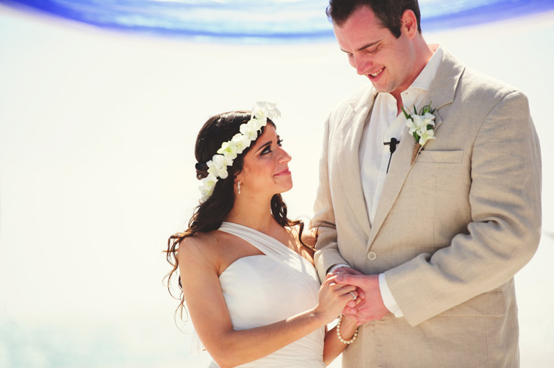 anna maria island wedding: holding hands