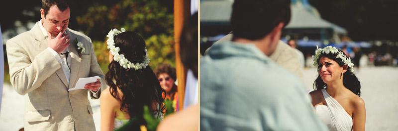 anna maria island wedding: emotional wedding