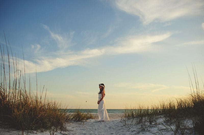 anna maria island wedding: bridal portrait