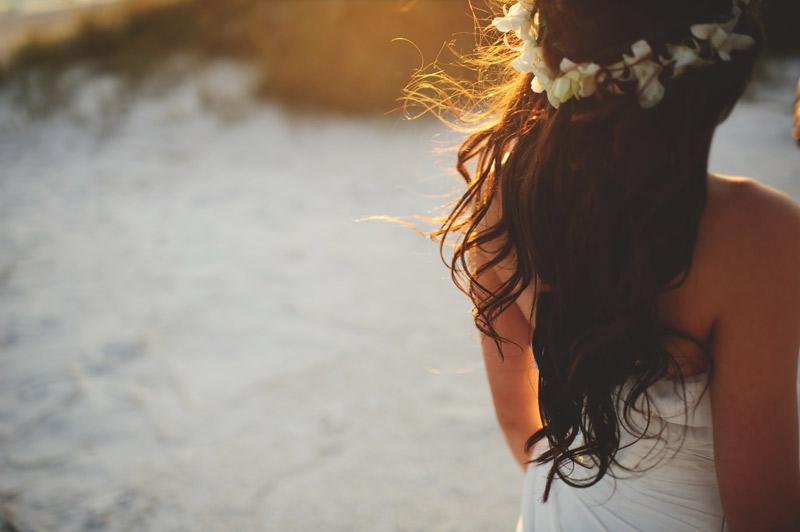 anna maria island wedding: brides back