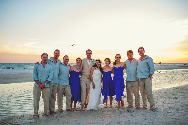 anna maria island wedding: bridal party