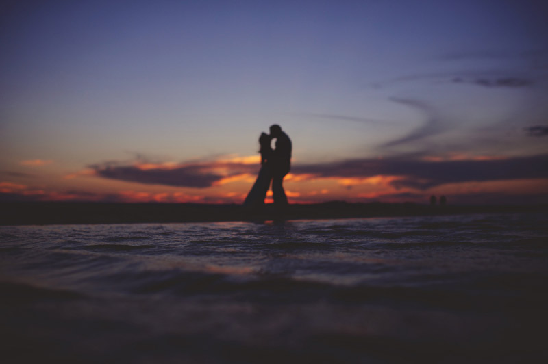 anna maria island wedding: bride and groom sunset photos