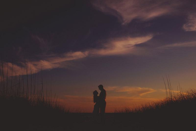 anna maria island wedding: sunset photos