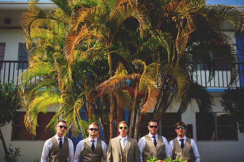 postcard inn holiday isles wedding: groomsmen portraits