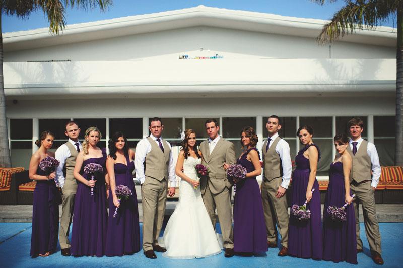 postcard inn holiday isles wedding: bridal wedding party