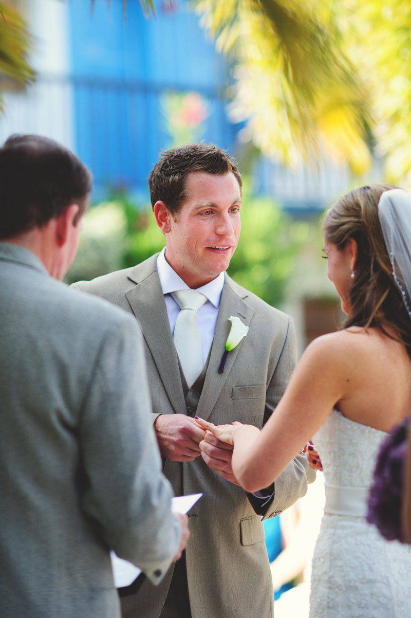 postcard inn holiday isles wedding: ring exchange