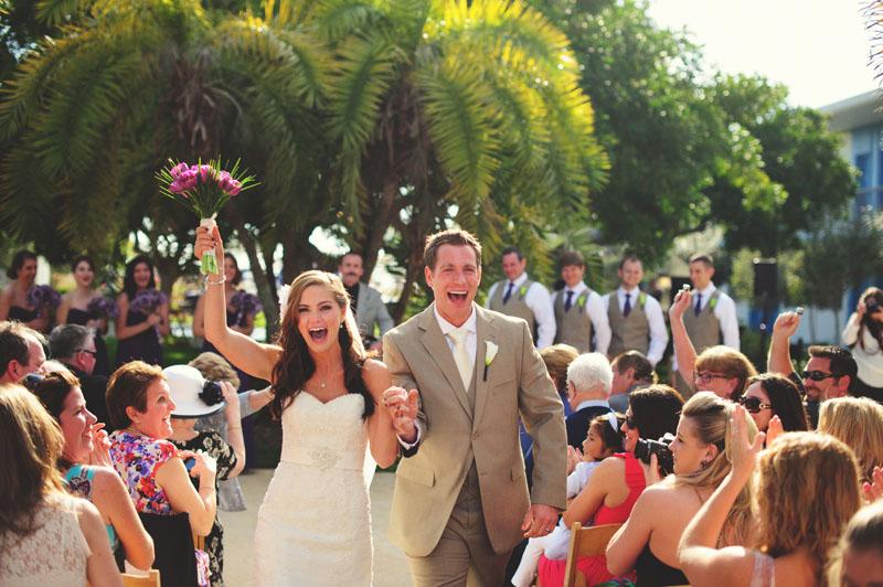 postcard inn holiday isles wedding: recessional
