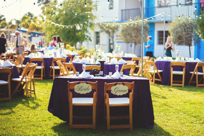 postcard inn holiday isles wedding: sweet heart table