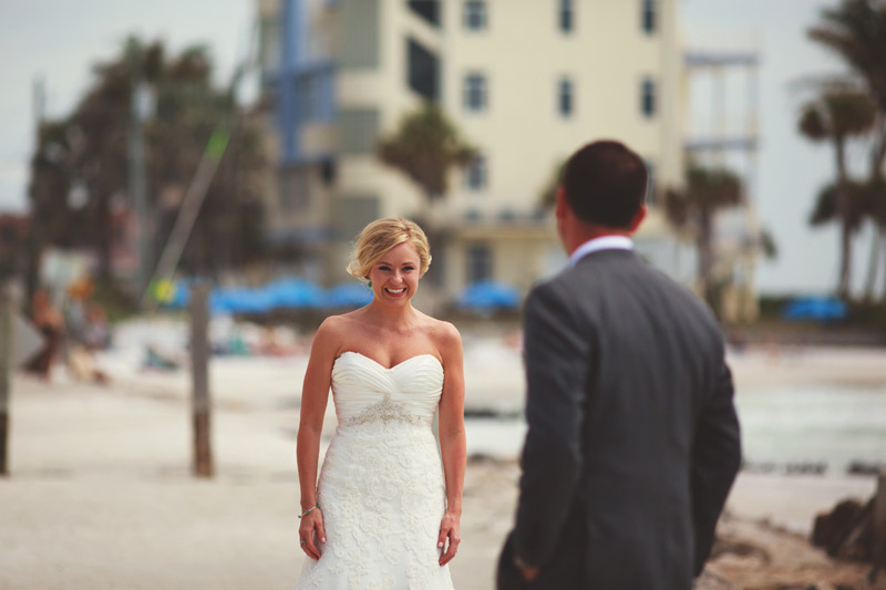 siesta key backyard wedding: first look