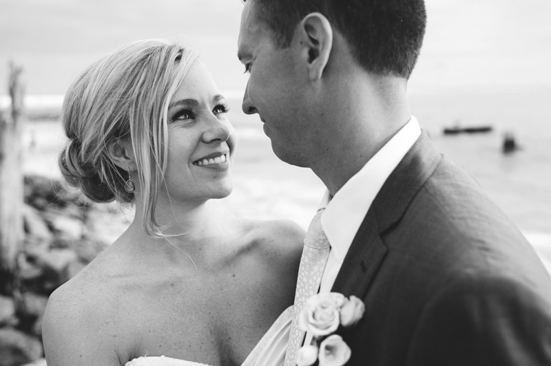siesta key backyard wedding: happy bride