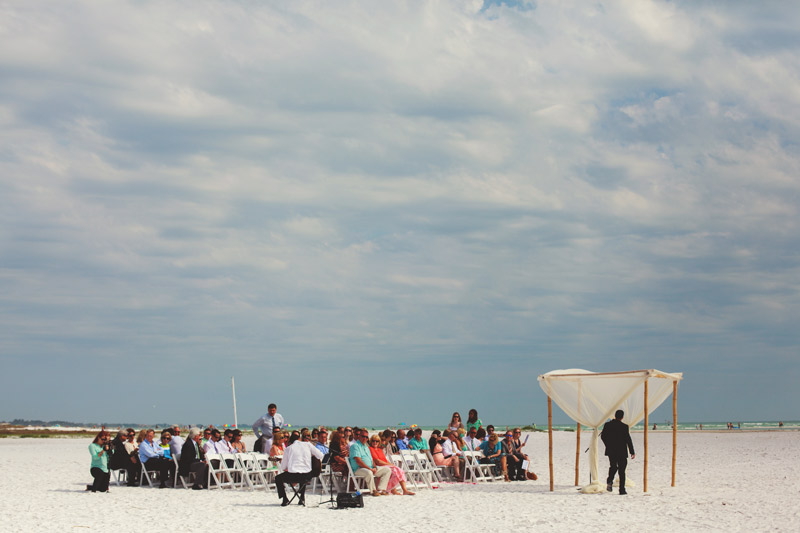 siesta key backyard wedding: ceremony site