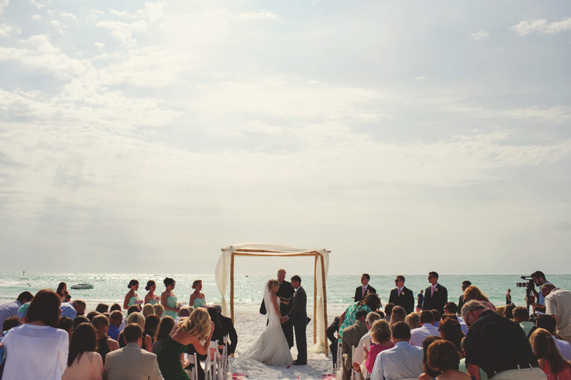 siesta key backyard wedding: ceremony