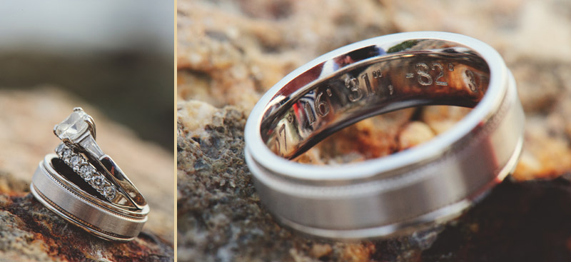siesta key backyard wedding: rings