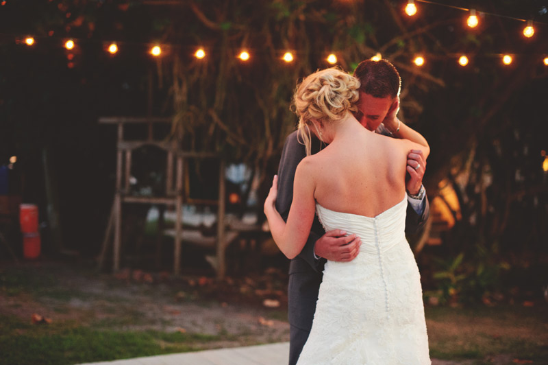 siesta key backyard wedding: first dance