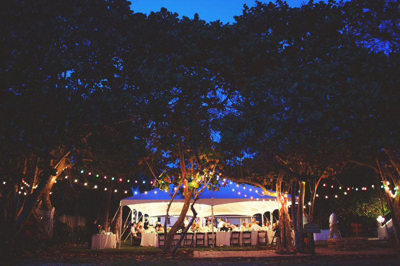 siesta key backyard wedding: reception site