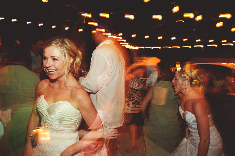 siesta key backyard wedding: fun dancing
