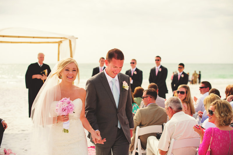 siesta key backyard wedding: recessional