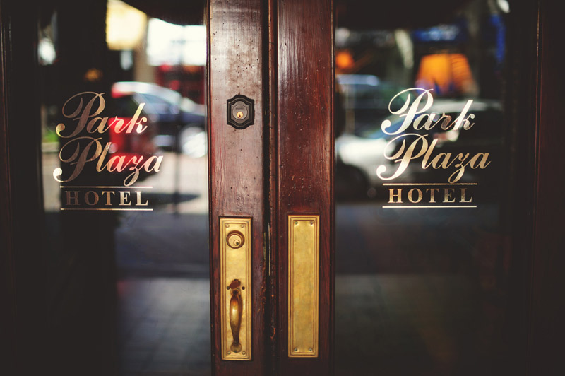 Park Plaza Hotel doors