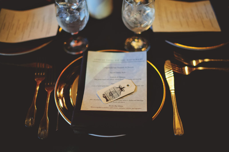 ceviche orlando wedding: place setting