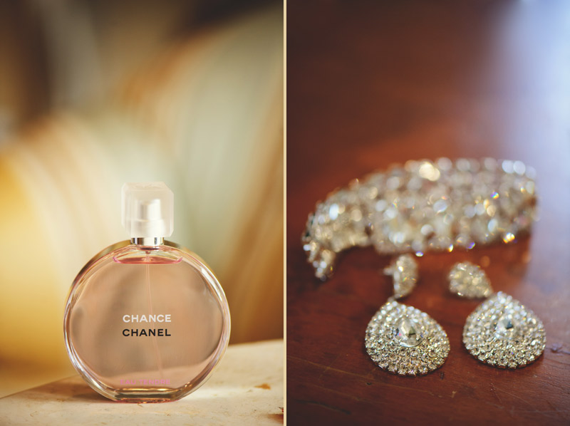 lakewood ranch wedding: chanel perfume and ear rings