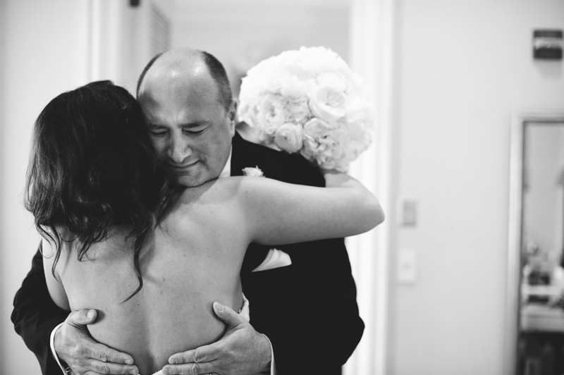 lakewood ranch wedding: father hugging bride