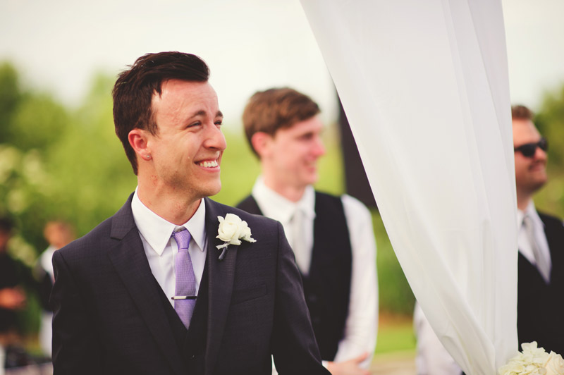 lakewood ranch wedding: groom so happy to see bride